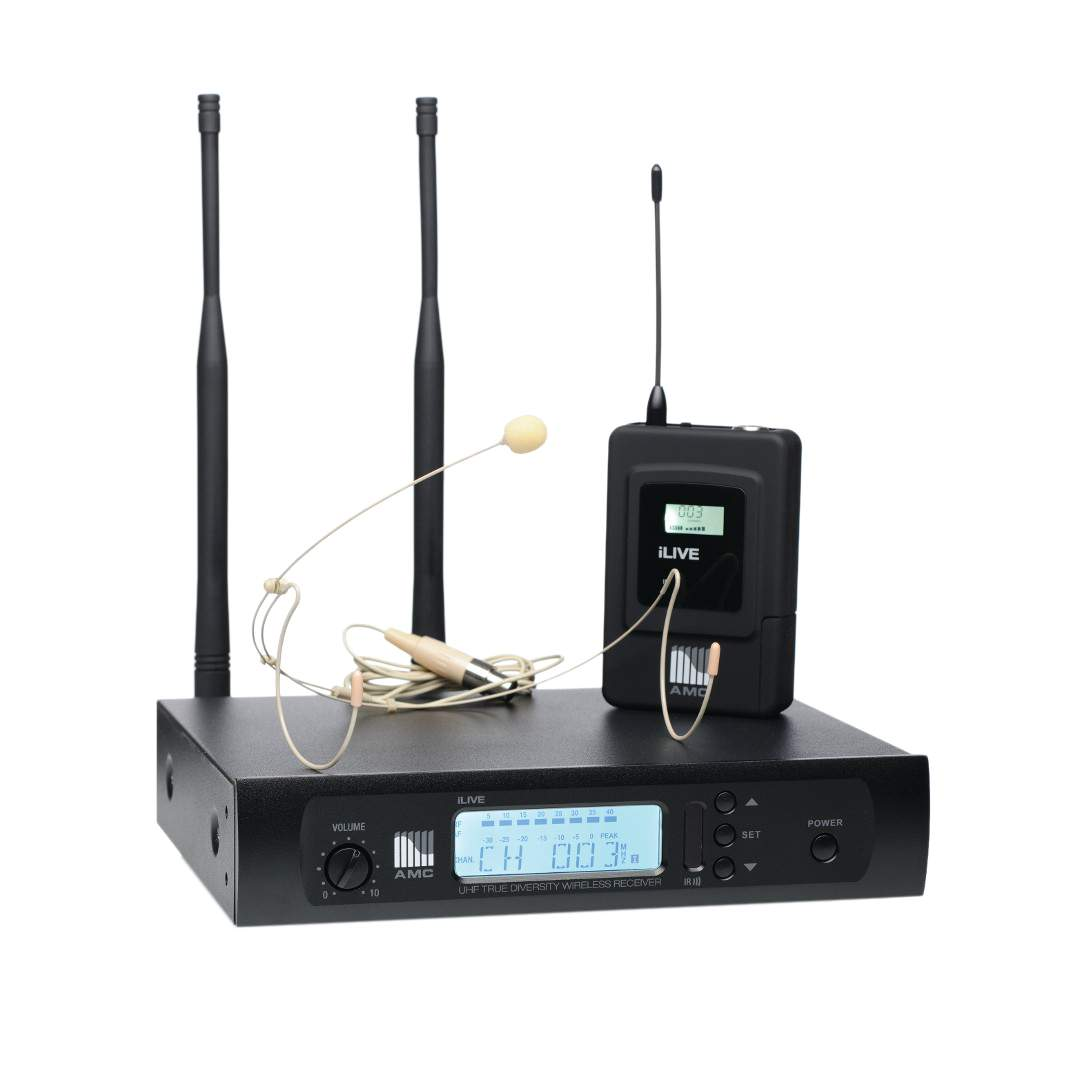 ilive uhf wireless microphone systems amc pro. Black Bedroom Furniture Sets. Home Design Ideas